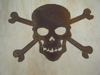 Large Rusted Metal Skull and Cross Bones Silhouette
