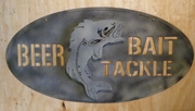 Bass 'Beer Bait Tackle'Sign