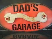 Dads Garage Metal Sign