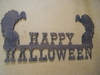 Happy Halloween Sign with Buzzards
