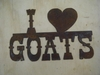 Rusted Metal I Heart Goats Sign