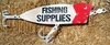 "Large fishing lure ""Fishing Supplies"" Sign"