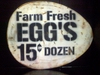 Metal Farm Fresh Eggs Sign