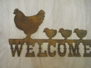 Welcome with Hens and Chicks