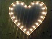 Industrial Style Heart Marquee