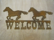 Welcome with Running Horses
