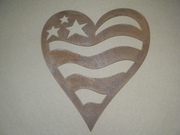 Patriotic Heart Sign