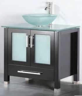 "30 inch Bathroom Vanity Vessel Sink Top Modern Style Espresso Color (30""Wx21""Dx36""H) ADRIAN 30EG"