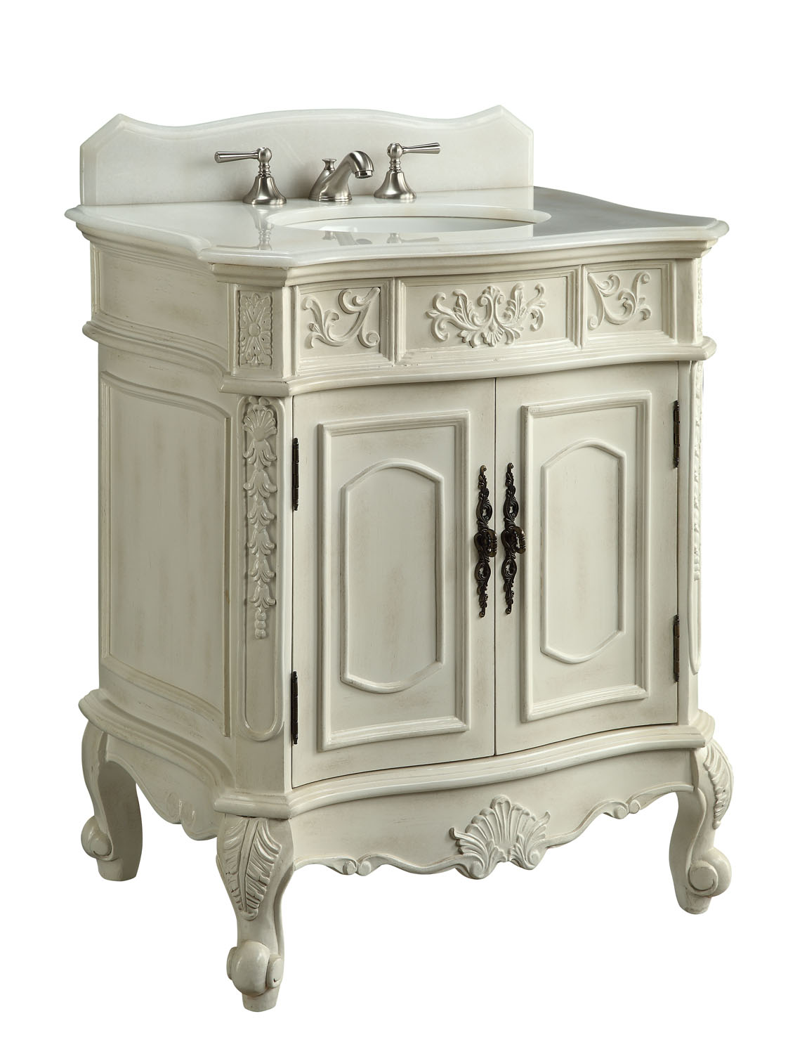 31 inch Bathroom Vanity Traditional Style Antique white Color  (31