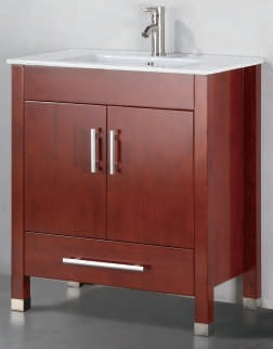 "30 inch Bathroom Vanity Modern Style Chestnut Color (30""Wx19""Dx34""H) ADAB5012C"