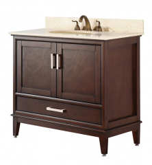 "36 INCH bathroom Vanity Transitional Style Tobacco Color (36""Wx22""Dx35""H) AUGUSTA 36TB"