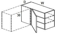 """Wall Blind Corner Cabinets 30""""H Click to Select Color & Size"""