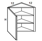 Wall Diagonal Cabinets Click to Select Color & Size