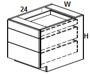 Drawer base Cabinets Click to Select Color & Size