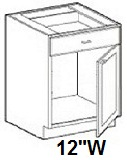 "Modular Bathroom Vanity Base Cabinet 12""W x 24""D x 34.5""H Click to Select Color"