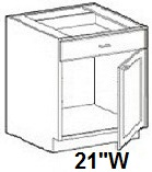 "Modular Bathroom Vanity Sink Base Cabinet 21""W x 21""D x 34.5""H Click to Select Color"