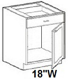 "Modular Bathroom Vanity Base Cabinet 18""W x 21""D x 34.4""H Click to Select Color"