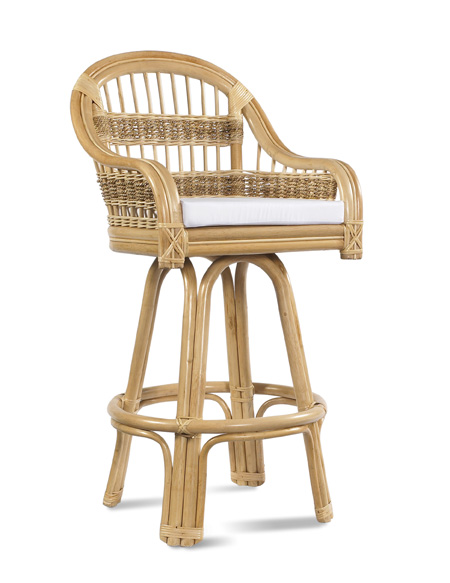 Tropical Breeze Swivel Bar Stool