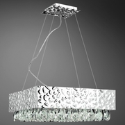 Michaela- 12 Light Pendant<br> Chrome w/ Faceted Crystal