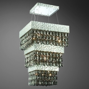 Michaela-13 Light Pendant<br> Chrome w/ Faceted Crystal