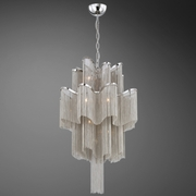 Candra- 12 Light Polished Nickle Pendant