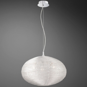 Oliana- 3 Light Pendant<br>Polished Aluminum Weave