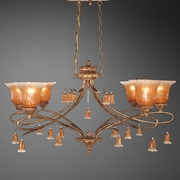 Serena- 6 Light Oval Chandelier