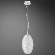Oliana- 3 Light Pendant, Style 2 <br>Polished Aluminum Weave