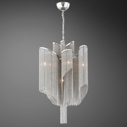 Candra- 7 Light Nickle Pendant, Style 2