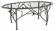 Pine Iron Oval Coffee Table