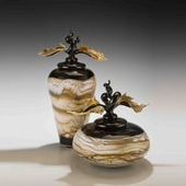 Marble Avian Jars and Bowls