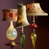 Silk/Glass Lamps