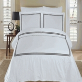 100% Egyptian Cotton Duvet Cover Set-MYA-Embroidered