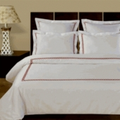 100% Egyptian Cotton Duvet cover Set-AM-Embroidered