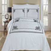 100% Egyptian Cotton Duvet Cover Set-ATN-Embroidered