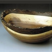 Black Walnut Oval Bowl