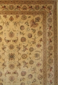 Contemporary Floral Tabriz, Gold, Brown & Burgundy