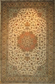 Contemporary Tabriz, Beige, Brown, Green