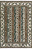 Grey, Rust, & Beige Contemporary Tabriz