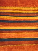 Persian Gabbeh, Red,Yellow & Blue Stripe