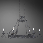 Oxton- 6 Light Pot Rack Chandelier