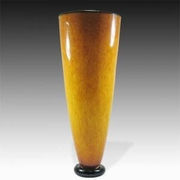 Jewel Tones Gold Tall Vase