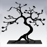 Hand Cut Steel Bonsai Tree Large