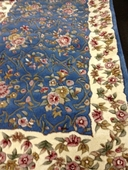 Blue Floral 3.5x5.5 Wool Area Rug