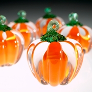 Glass Pumpkins - Orange
