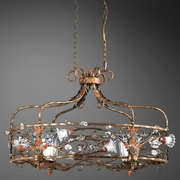 Celnah- 10 Light Oval Chandelier