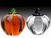 Glass Pumpkins - White