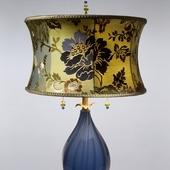 Silk/Glass Table Lamps