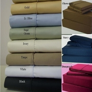 100% Egyptian Cotton Sheet Set-600tc-21 Inch Super Deep Pocket-Solid