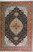 Fancy Tabriz, Navy, Burgundy, Beige